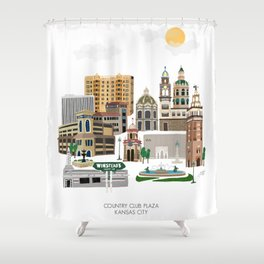 Kansas City Plaza Shower Curtain