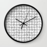 tree rings Wall Clocks featuring Tree Rings by Andrew Stephens
