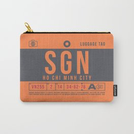 Retro Airline Luggage Tag 2.0 - SGN Ho Chi Minh City International Airport Vietnam Carry-All Pouch
