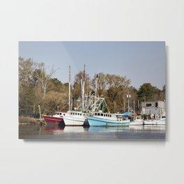 Bayou La Batre is a fishing village with a seafood-processing harbor for fishing boats and shrimp bo Metal Print