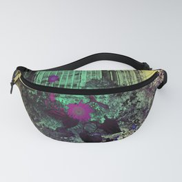 The Old Windows with Backyard Watercolor Fanny Pack