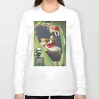 surrealism Long Sleeve T-shirts featuring William Morris Surrealism by Ira Carter