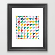 Rainbow Dogtooth Framed Art Print