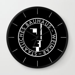 BAUHAUS LOGO / BLACK Wall Clock