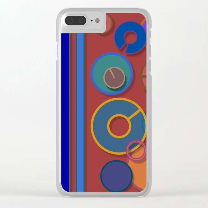 Abstract #54 Clear iPhone Case