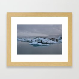 Beautiful glacial lake Jökulsárlón Framed Art Print