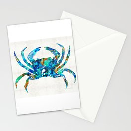 Blue Crab Art by Sharon Cummings Stationery Cards