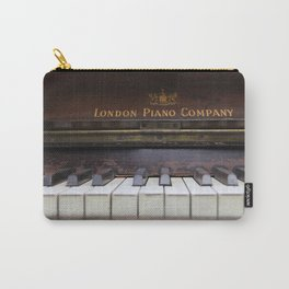Piano keys Old antique vintage music instrument Carry-All Pouch