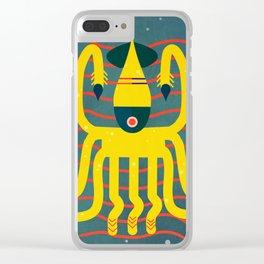 The calamari yellow Clear iPhone Case
