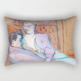"""Henri de Toulouse-Lautrec """"The Two Friends"""" Rectangular Pillow"""