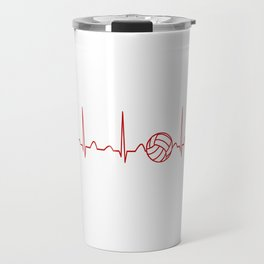 VOLLEYBALL HEARTBEAT Travel Mug
