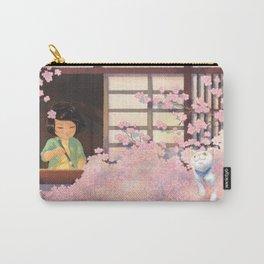 Hanami Cat in Sakura Tree Carry-All Pouch