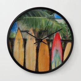 Polynesian Surfboards Wall Clock