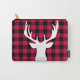 Winter Plaid Deer Carry-All Pouch