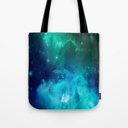 Blue And Green Planetary Nebula Tote Bag