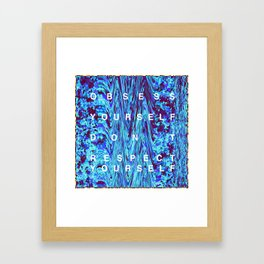 "OBSESS YOURSELF ""TRILL"" GLITTER Framed Art Print"