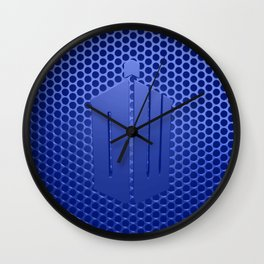 Tardis Logo Wall Clock