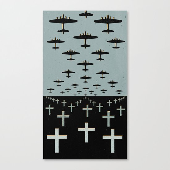 Cross and Bombs Canvas Print