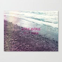 Waves on the Beach Canvas Print