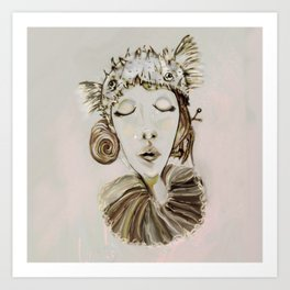 Ophelia´s premonitory dream Art Print