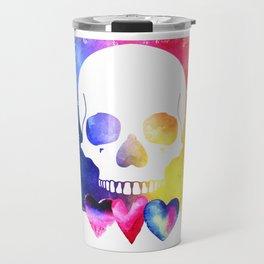 Colorful Skull for Day of Dead Halloween Design Travel Mug