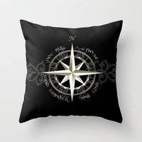 gondor Throw Pillows featuring Not all those who wander are lost - J.R.R Tolkien by Augustinet
