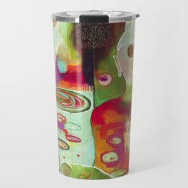 """Rooted In Love"" Original Painting by Flora Bowley Travel Mug"