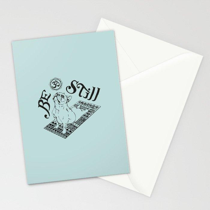 Be Still Frenchie Stationery Cards