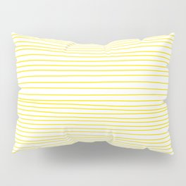 Yellow Lines dancing striped Pillow Sham
