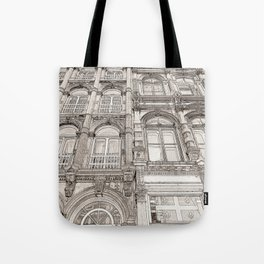 Facades - line art Tote Bag