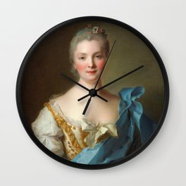 Madam de La Porte Portrait by Jean - Marc Nattier Wall Clock