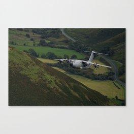 Airbus A400M At Mach Loop Canvas Print
