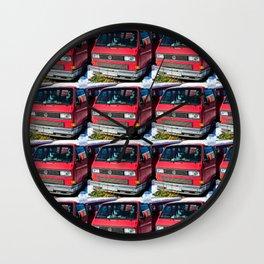 Red Vans Wall Clock