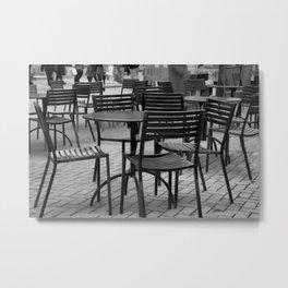 Patterns in greyscale Metal Print