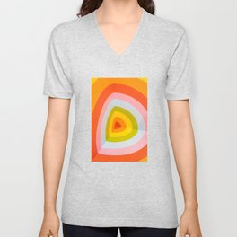 Multi Colour Corner Wall Art Unisex V-Neck