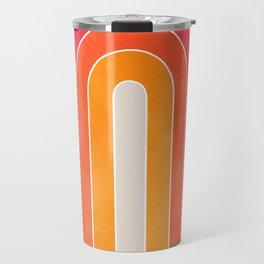 retro u stripes Travel Mug