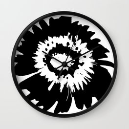 Black Flower Wall Clock