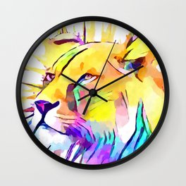 Lioness 3 Wall Clock