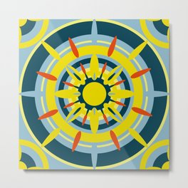 Yellow Sicily Metal Print