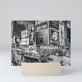 Times Square II (B&W widescreen) Mini Art Print