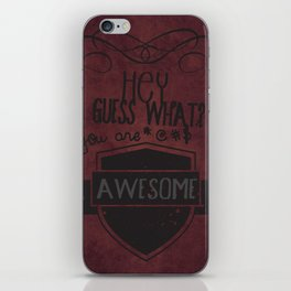 You are !@#$ awesome!! iPhone Skin