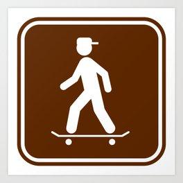 "Urban Pictograms ""Skater"" Art Print"