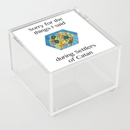 Catan, Settlers of Catan, Board Game, Geek Art, Nerd Art Acrylic Box