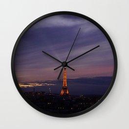 paris by night Wall Clock
