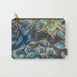 succulents flora art #succulents #flora Carry-All Pouch