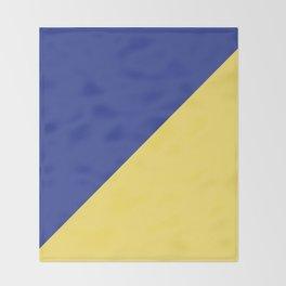 Modern royal blue sunshine yellow trendy color block Throw Blanket
