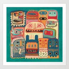 Instant drôlatique-8h37  Art Print