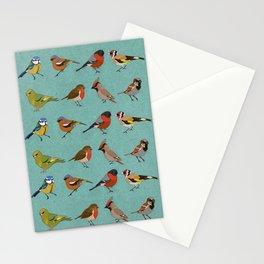 British Garden Birds - Blue Stationery Cards