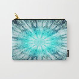 Teal Blue Mandala Carry-All Pouch