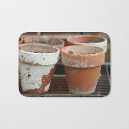 Flower Pots with Texture Bath Mat
